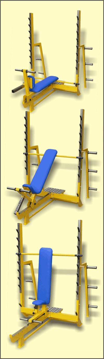 Polohovací benchová lavice