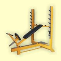 Polohovací benchová lavice - lineární ložiska