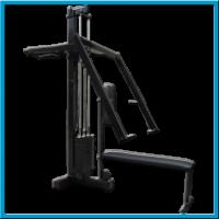 Tlak soupažný ramena a vodorovný benchpress